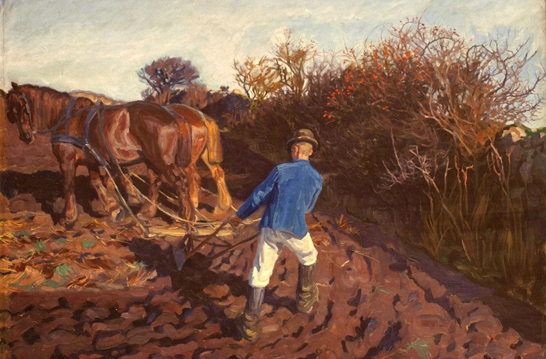 Peter Hansen, The Ploughman Turns, 1902. Faaborg Museum.