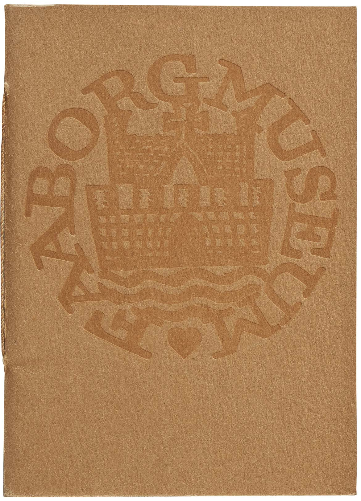 Faaborg Museum's logo on the cover of the first edition of the museum catalogue by Knud V. Engelhardt, 1916.