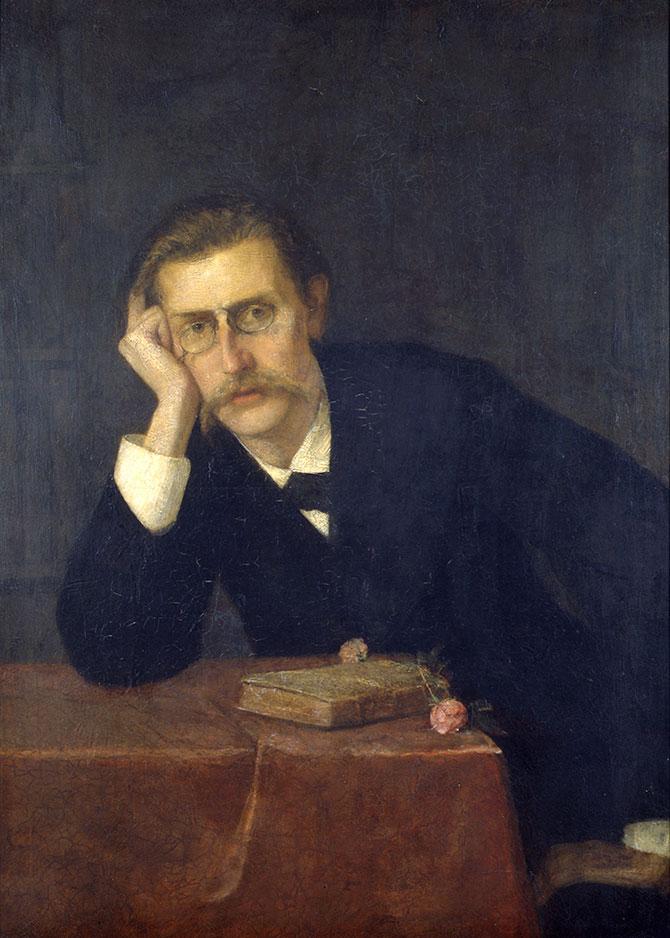 Ernst Josephson, J.P. Jacobsen, 1879. Das Nationalhistorische Museum, Schloss Frederiksberg.