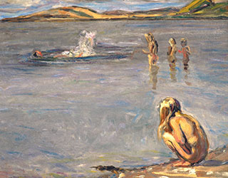 Fritz Syberg, Die Kinder baden, 1908. Faaborg Museum.