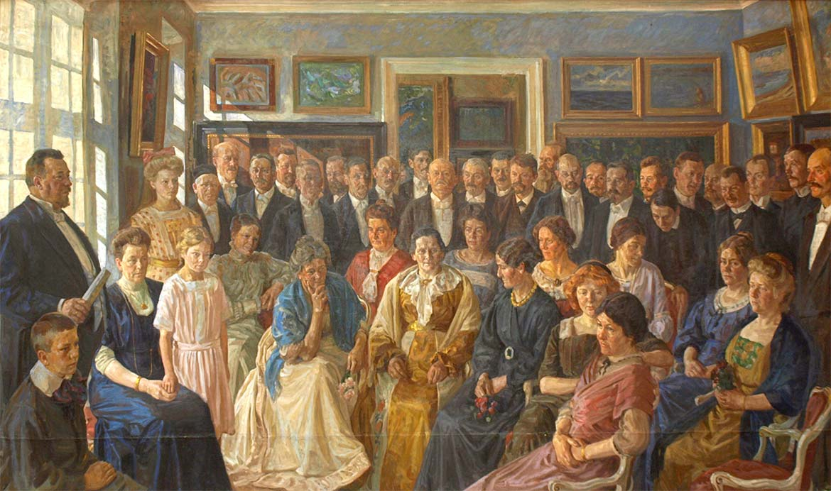 Peter Hansen, The Inauguration of Faaborg Museum, 1910-12. Faaborg Museum.