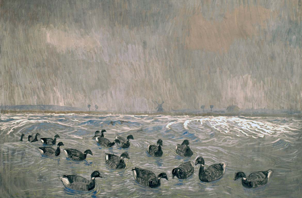 Johannes Larsen, Brent Geese, 1908. Faaborg Museum.