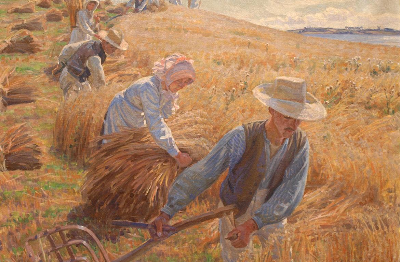 Peter Hansen, Harvest, 1910. Faaborg Museum.
