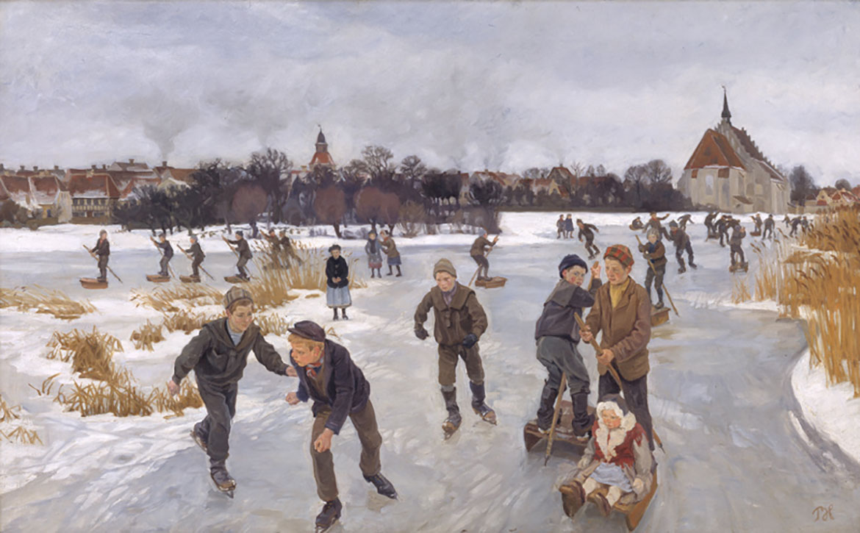 Peter Hansen På isen bag byen, 1901 Statens Museum for Kunst